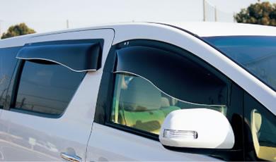 【送料無料】バイザー 80ノア・ヴォクシー 80・85 オックスバイザー ブラッキーテン1台分SET 雨除け 紫外線カット 国産製