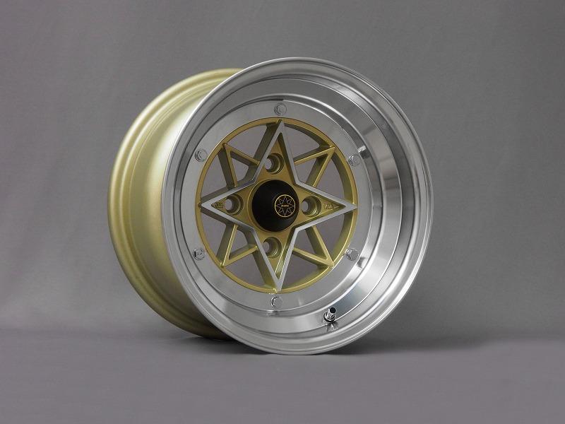 【送料無料】 スターシャーク ゴールド 8J -13 114.3-4H 2本SET 数量限定クロモリ製レーシングナット進呈中
