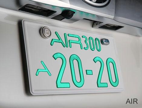【送料無料】 AIR エアー 字光式ナンバー 光るナンバー 1枚のみ 車検対応 即納 ナンバープレート LEDナンバープレート 極薄