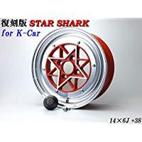 【送料無料】 スターシャーク レッド 6J +38 PCD100-4H 2本SET 軽自動車
