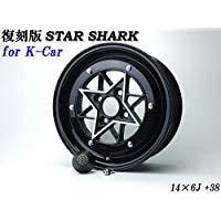 【送料無料】 スターシャーク ブラック 6J +38 PCD100-4H 2本SET 軽自動車