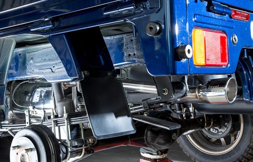Spiegel レベルサウンド304 車検対応 軽トラック専用 マフラー スズキ キャリイトラック DA16T ※スーパーキャリイ装着可(5AGS車両を除く) シュピーゲル LevelSound-304