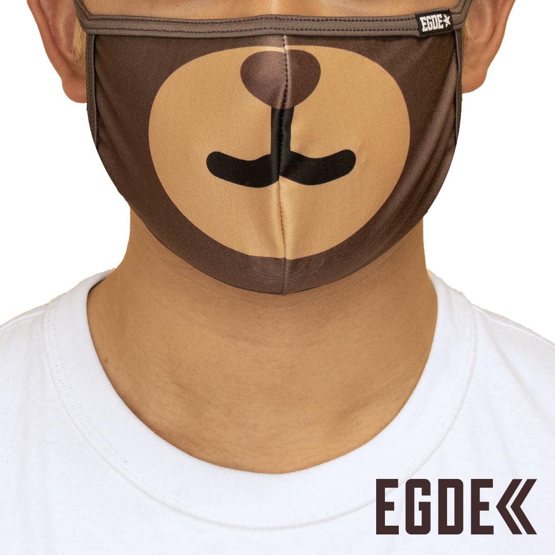 EGDE≪ 新着 Seasonal Wrap入荷 ANIMAL FACE クマ パイピングマスク