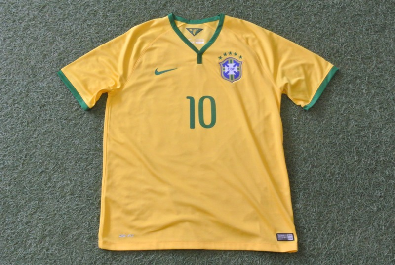 【2014ブラジルW杯モデル】ナイキ ブラジル ホームスタジアムジャージ CBF DRI-FIT S/S 【NIKE】代表モデルレプリカユニホーム