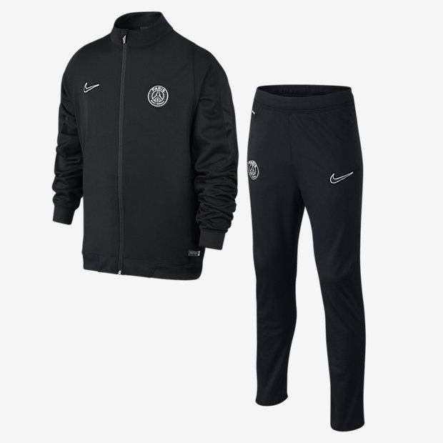 耐克PSG DRI-FIT REV旁边线编织物准备活动西服上下安排运动衫巴黎圣日耳曼