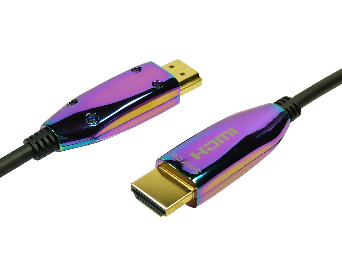 細く軽い光電気複合ケーブル 外部電源不要 4K2K 4.2.2 60P 36bitも対応 4K2K 60p 4.4.4 24bit HDR動作保証 HDMI AOCケーブル 20m High speed with ethernet