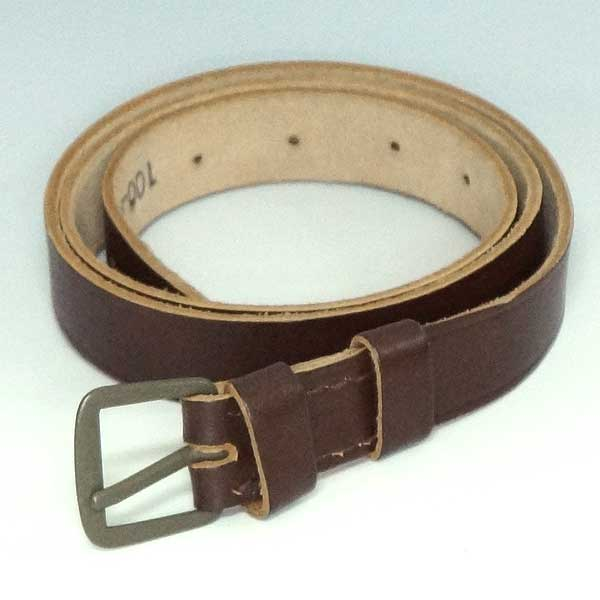 Brand new ◆ real Czech Army 1950s vintage leather belt Brown  military  accessories army of Euro army military