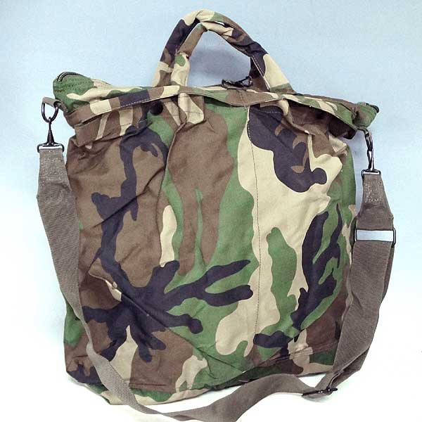 Brand new ◆ military Mil-Tec (mile Tech) helmet bag Woodland Camo shoulder straps replica! United States military forces of commuting to school leisure outdoors by car bike reprint