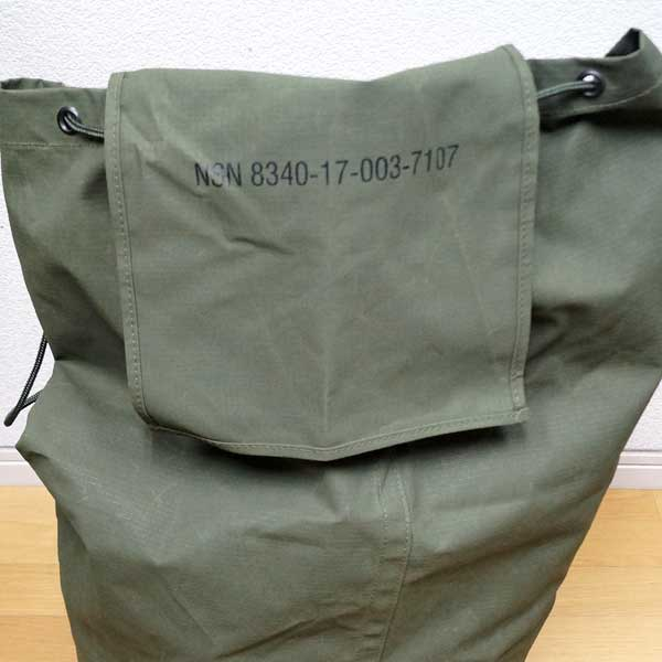 7f9608f1b8c9 Real thing French military large size duffel bag reinforcement nylon  material ♪ As a bottom is flat in a circle
