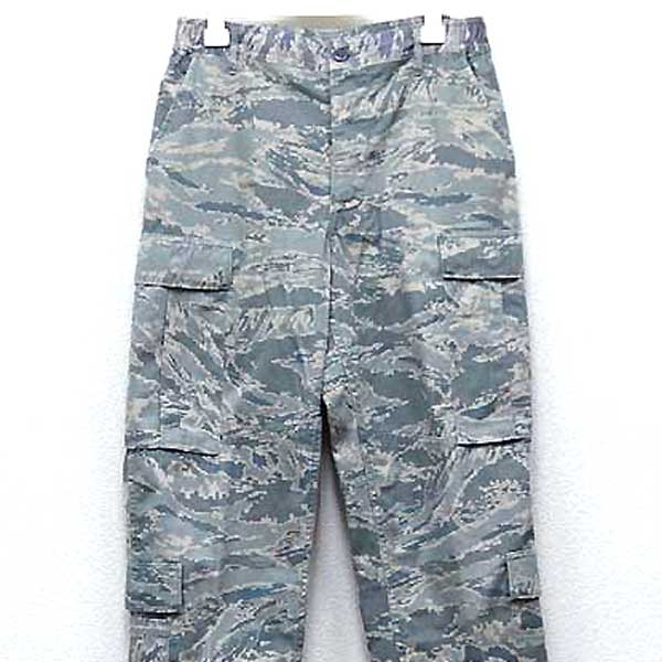 ◆Cloth for real thing U S  air force ABU deciTal tiger duck cargo pant  cotton twill ♪ USAF military shorts camouflage US combat U S  forces forces