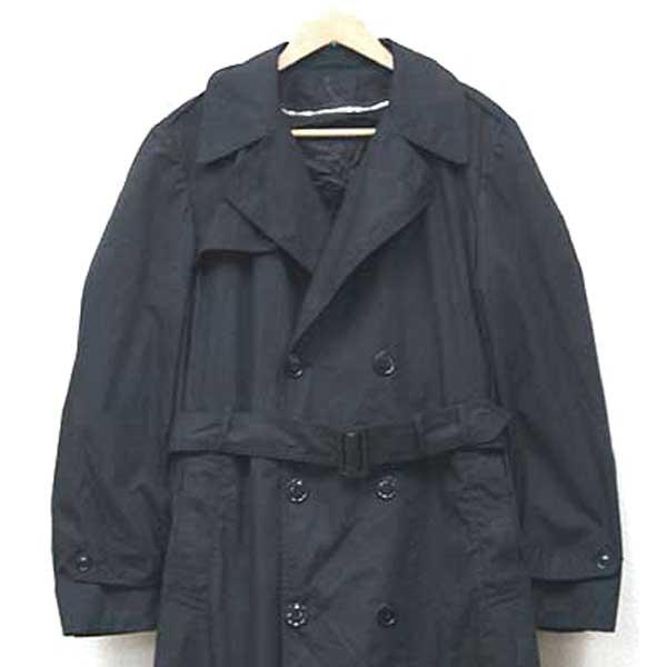 신품 ◆ 미 해군 실물 U.S.ARMY 트렌치 코트 블랙 ♪ 밀리터리 군용 ARMY 군대 물 비옷 방출 물