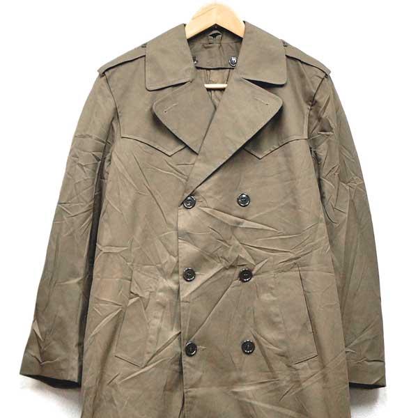 신품 ◆ 실물 이탈리아 군 트렌치 코트 라이너 첨부 카키색 ♪ 빈티지 재고 밀리터리 군용 ARMY 군대 물 방출 물