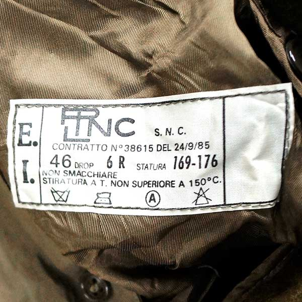 Brand new ◆ real Italy military trench coat with liner khaki ♪ vintage deadstock military army ARMY military surplus