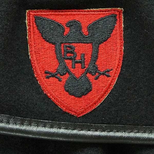 Brand new ◆ real U S  Army material black beret Cap 2003-year wool ♪  deadstock military euro