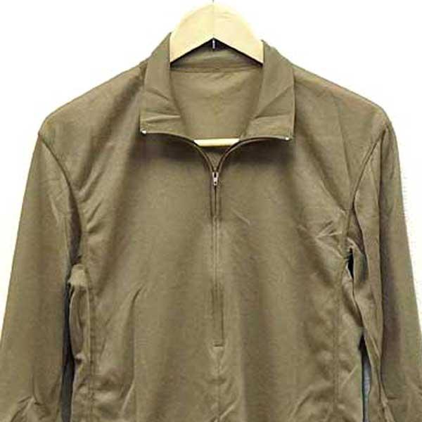 Brand new • actual U.S. Navy ECWCS GEN II polyester material herfujippur-over shirt brown ♪ shirt undershirt military T shirts inner America