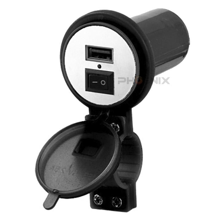 定形外送料無料 代引き不可 ポスト投函 税込み バイク 用 12V USB ポート 低価格 カバー スイッチ 防水 充電 超人気 専門店 USB電源 ブラック タブレット スマホ 付き