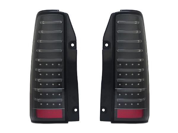 スズキ ジムニー JB23W 流れるウインカー付フルLEDテールランプ ブラック シーケンシャルウィンカー 左右セット