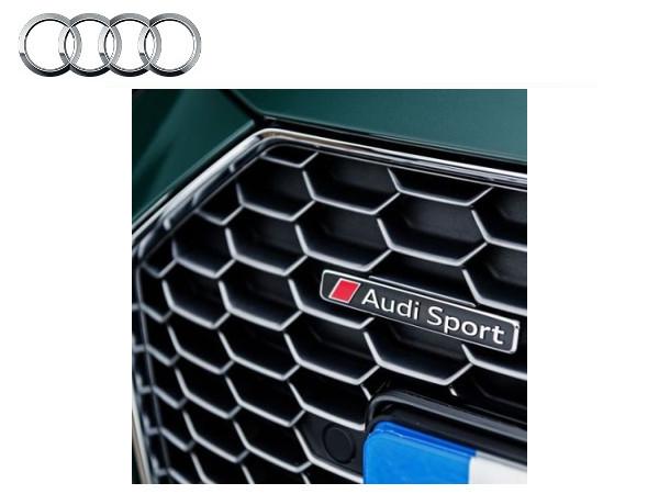 送料無料 アウディ純正 流行のアイテム Audi Sport S1 S3 RS3 S4 RS4 S5 RS5 S6 TTS SQ5 RS7 RSQ3 エンブレム4S0853737D2ZZ RSアウディスポーツ TT S7 RS6 卸売り