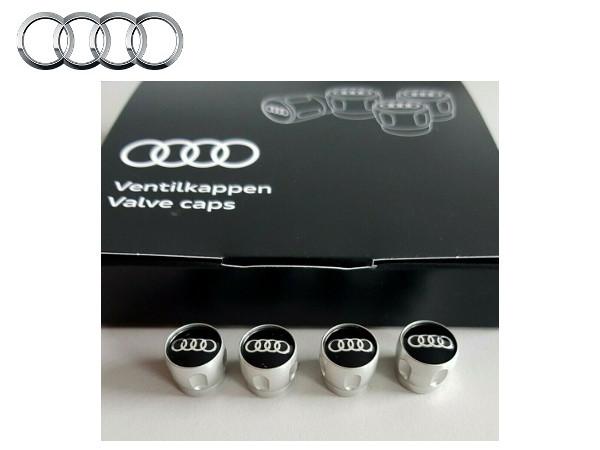 送料無料 アウディ純正 アルミ エアバルブキャップ Audi A1 A3 A4 A5 A6 A7 A8 Q2 Q3 Q5 Q7 Q8 R8 TT RS3 RS4 RS5 8K8W8J4G B8B98T8S