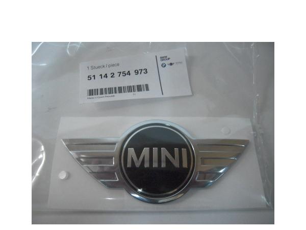 ミニ R55 R56 R57 超特価SALE開催 R59 R58 購入 純正フロントエンブレム 51142754973