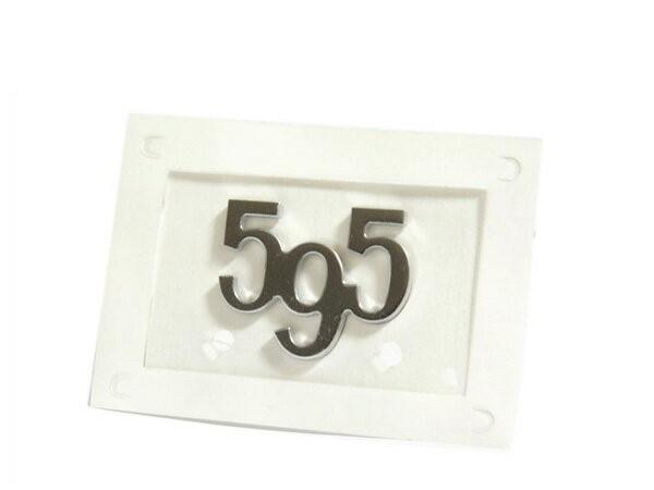 アバルト 595 コンペティツィオーネ/ツーリズモ 純正595アルミリアエンブレム 735573516
