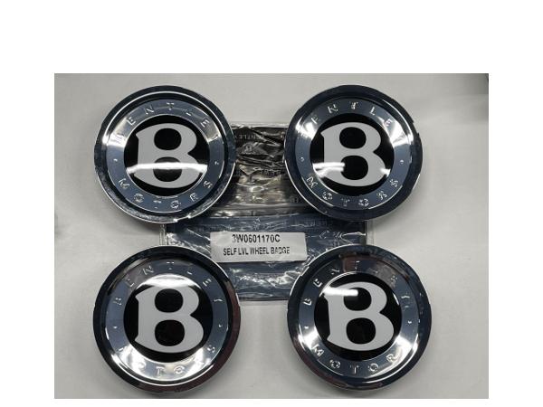 ベントレー 純正 コンチネンタル GT フライングスパー ホイールキャップ 4個セット セルフレベリング センターキャップ 3W0601170C