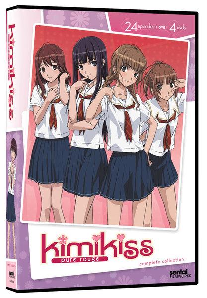 キミキス pure rouge DVD 全25話(TV放送:全24話) 625分収録 北米版