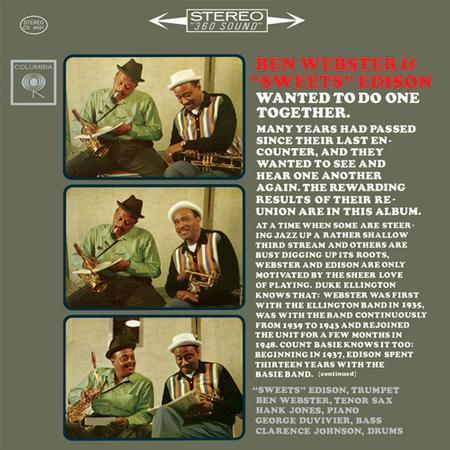 """【新品レコード】180g,45回転Ben Webster & """"Sweets"""" Edison"""
