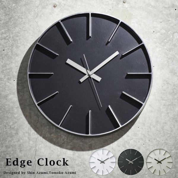 Lemnos タカタレムノス 壁掛け時計 AZ-0115 Edge Clock [時計 壁掛け 掛け時計 ウォールクロック おしゃれ デザイン 子供 ギフト 引っ越し 新生活 クリスマス 結婚 祝い 送料無料] 10倍 プレゼント