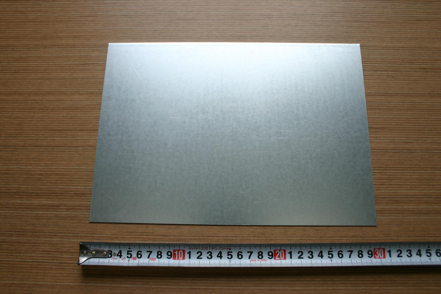 超定番 亜鉛めっき鋼板 0.6mm 新品 送料無料 A4サイズ
