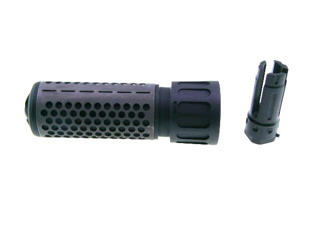 KAC型QDCクイック脱着128mmX38mmCQBサイレンサー逆ネジ14mmCCW新品 Knights Armament ナイツ タイプ サプレッサー