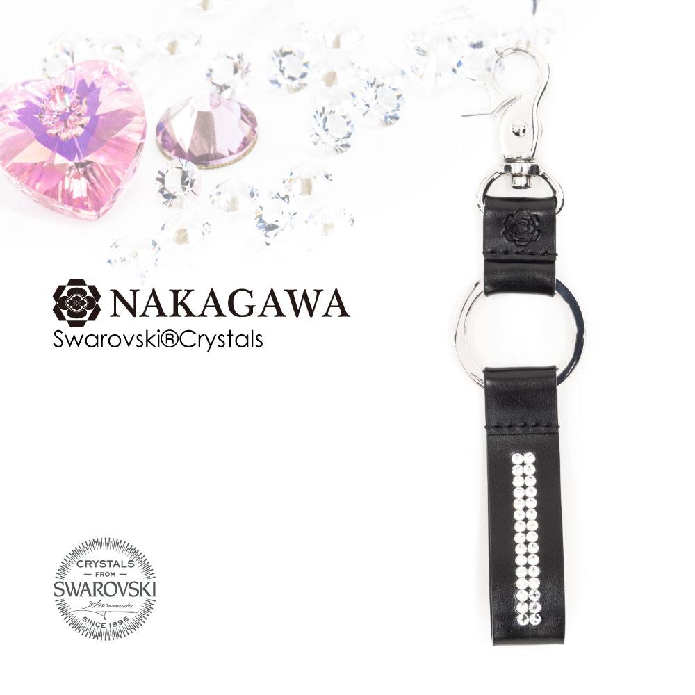 スワロフスキー キーリング 秋桜 影/ブラック Made with Swarovski® Crystals [NA-KY-COS-0002]【送料無料】 AZ1