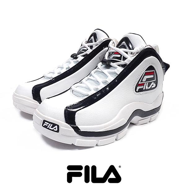 FILA/フィラ/96GLスニーカー/WHITE×NAVY:ホワイト×ネイビー/Grant Hill/シグネチャーモデル復刻版/グラントヒル/NBA/バスケットシューズ/2PAC/シューズ/靴/26/27/28/29cm/メンズ/紳士/送料無料/あす楽/