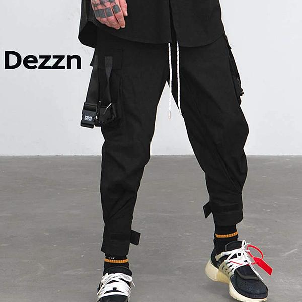 DEZZN/デジーン/ベルトカーゴパンツ/DEZZN/CD VIDEO PANTS/IN8884W/BLACK/ブラック/M/L/XL/2019新作/カーゴパンツ/メンズ/カジュアル/正規取扱/正規店/送料無料