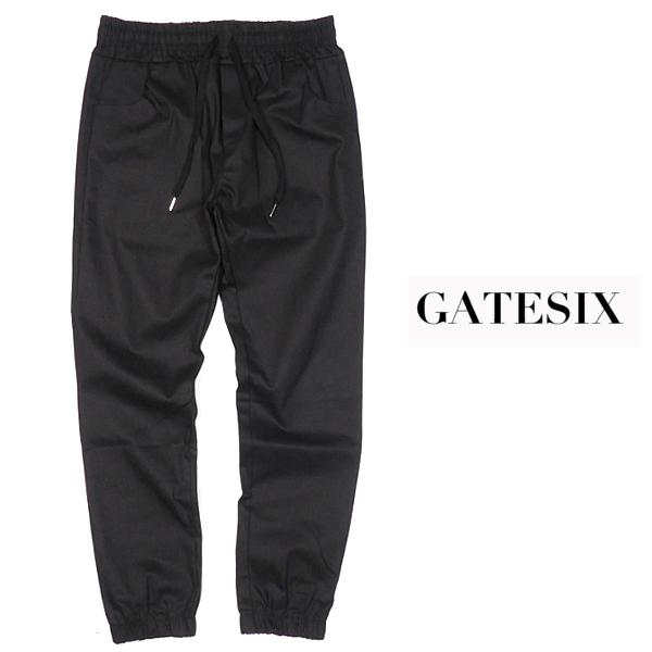 GATESIX/ストレッチデニムジョガーパンツ/BLACK/ブラック/ストリート