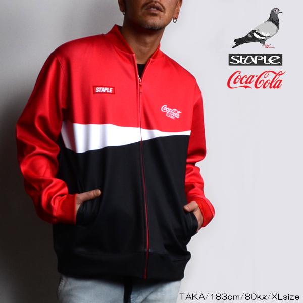 STAPLE/ステイプル/Coca-Cola Classic Track Jacket/コカ・コーラ/トラックジャケット/メンズ/紳士/2019春夏新作/M/L/XLサイズ/コラボ/ダブルネーム/ニューヨーク/スポーティ/ストリート/HIPHOP/あす楽/送料無料/