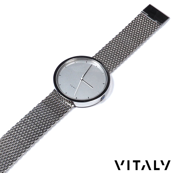 VITALY/ヴァイタリー/ステンレスバンドウォッチ/40mm文字盤/ホワイトダイヤル/秒針WHT/腕時計/メンズ/レディース/ユニセックス/