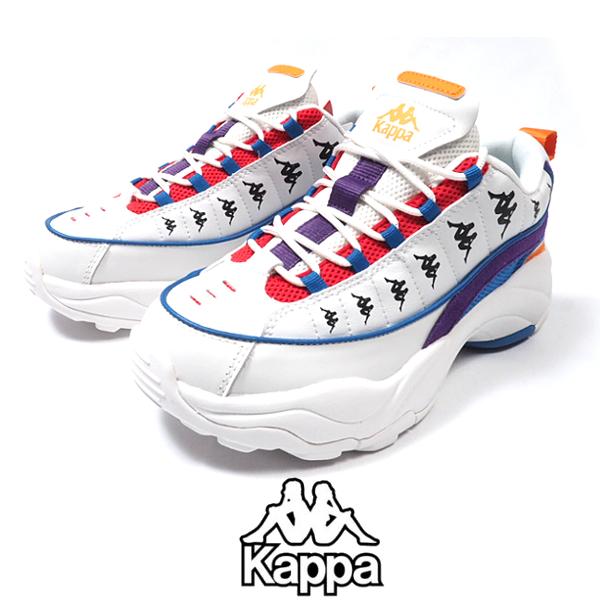KAPPA/カッパ/K09Y5MM17/スニーカー/WHITE/ホワイト/カジュアル/ダッドシューズ/ランニングシューズ/シューズ/靴/メンズ/紳士/
