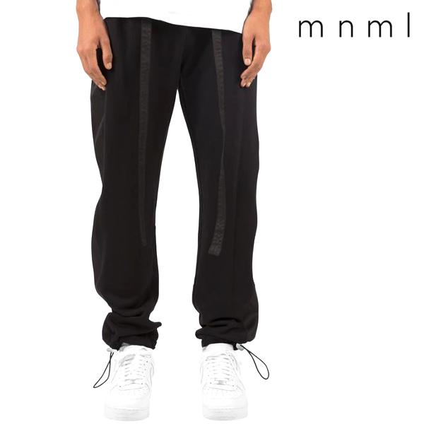 mnml/ミニマル/スウェットパンツ/ブラック/黒/バギーパンツ/ストリート/シンプル/メンズ/送料無料/新作/
