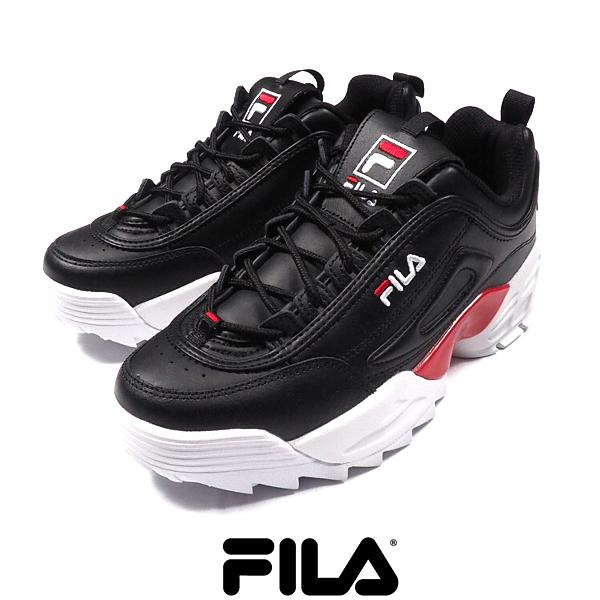 SALE/FILA/フィラ/DISRUPTOR 2 LAB/BLACK/ディスラプター2 ラボ/ブラック/F0429/スニーカー/ダッドスニーカー/シューズ/靴/黒/スポーティー/ストリート/HIPHOP/メンズ/送料無料/新作/