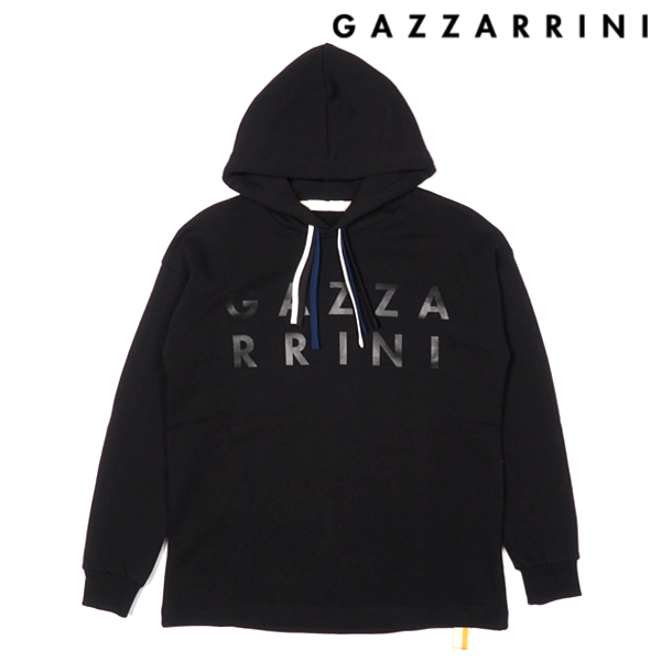 GAZZARRINI/ガッザリーニ/スウェットパーカー/ブラック/黒/プルオーバー/フーディ/ロゴプリント/イタリア製/メンズ/送料無料/新作/