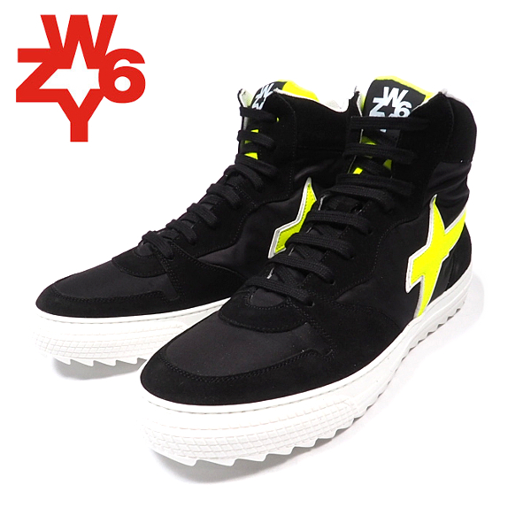 W6YZ/ウィズ/ハイカットスニーカー/BLACK/ブラック/靴/シューズ/スポーティ/カジュアル/モード/ストリート/イタリア/メンズ/送料無料/新作/