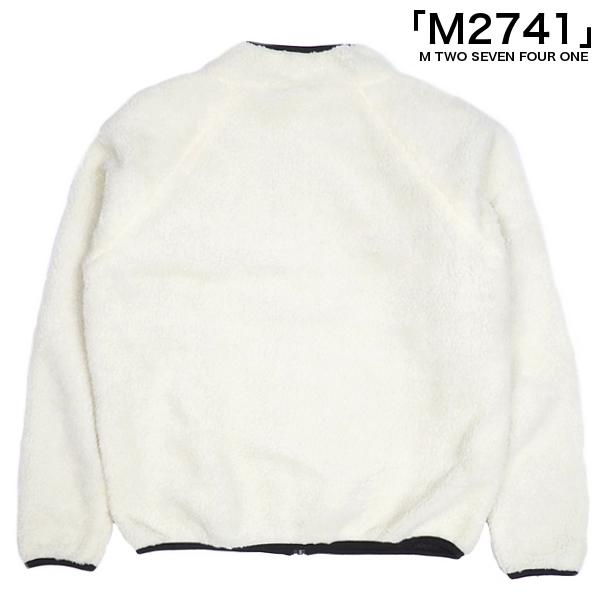 M2741/リバーシブルボアZIPブルゾン/WHITEBLACK/ホワイトブラック/ボアブルゾン/ナイロンブルゾン/アウター/アメカジ/ストリート/カジュアル/エムトゥーセブンフォーワン/メンズ/送料無料/新作/