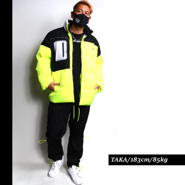 DOPEドープ中綿ダウンジャケットジャンパージャケットアウター長袖メンズ蛍光イエロー大きいサイズb系ヒップホップストリート系ファッションブランドビッグシルエットブラック黒メンズ大きいサイズLAセレブスポーティストリートメンズ送料無料新作