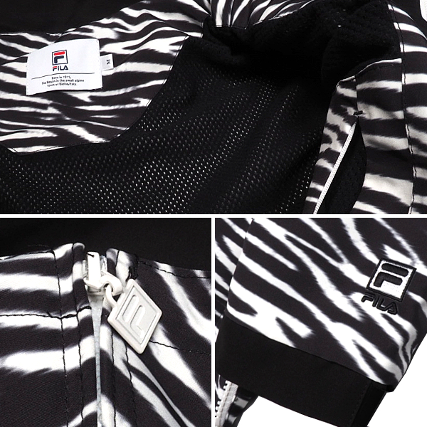 FILAフィラゼブラナイロンマウンテンパーカーフーディアウター大きいサイズファッション韓国ファッションスポーティストリートメンズ送料無料新作