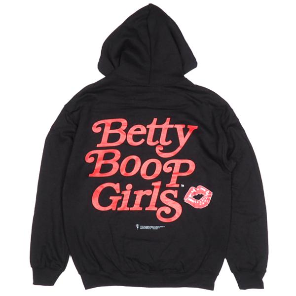 BETTYBOOP「BettyBoopGirls」バックプリントパーカーフードベティベティちゃんプリントストリートメンズレディース男女兼用大きいサイズビッグサイズ裏起毛2020年秋冬新作