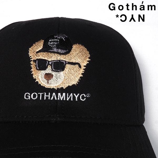 GOTHAMNYCゴッサムベアーキャップ刺繍GN813BLACKブラック黒ローキャップ帽子ゴッサムストリートカジュアルメンズレディースユニセックスフリーサイズ送料無料あす楽2020年秋冬新作