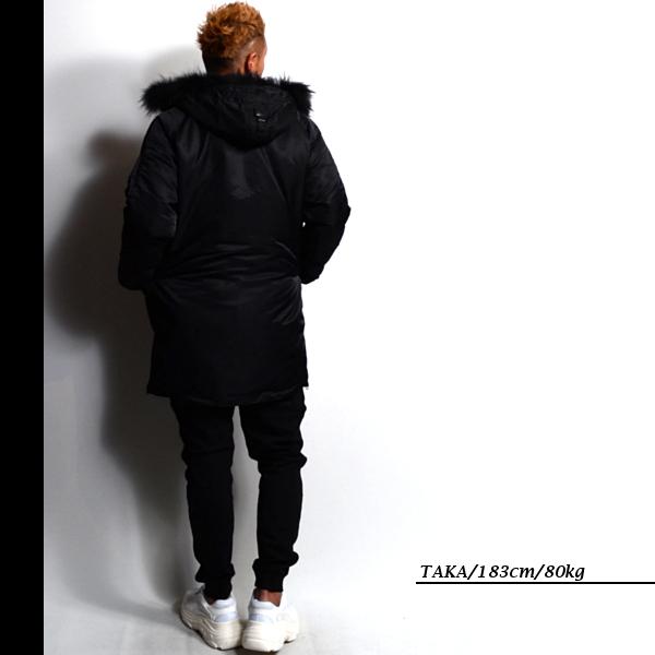 ラスイチSALE在庫限りDEMILYデミリーファー付きモッズコート全2色ブラック/カーキ中綿ジャケットナイロンブルゾンM/Lサイズカジュアルストリートミリタリーメンズ送料無料