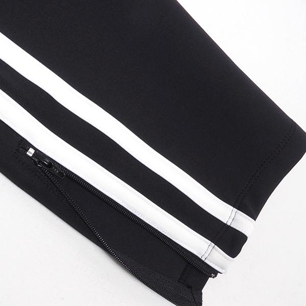 【再入荷×2】SALEDEMILYデミリーラインZIPパンツBLACKブラック×ホワイト黒白トラックパンツサイドラインパンツウエストゴムM/L/XLサイズスポーティストリートカジュアルメンズ送料無料