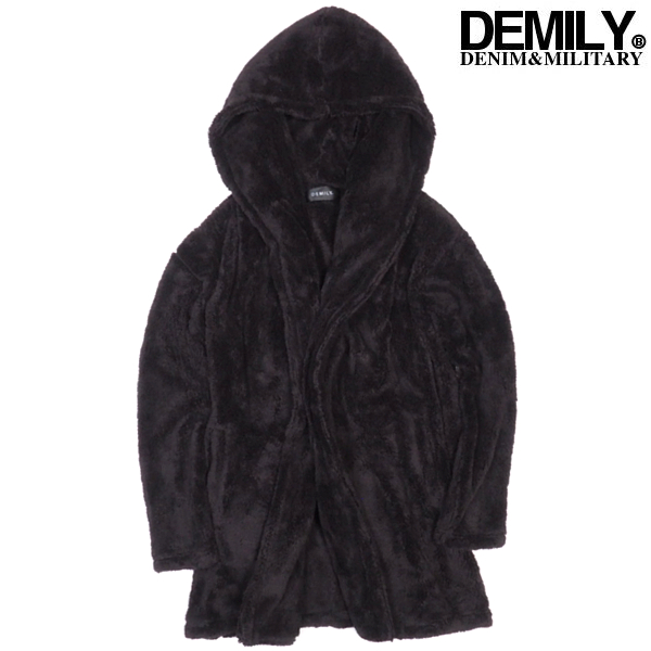 All three colors of re-arrival X 6/DEMILY (Demi Lee) boa food Cody cancer  men pile gown coat long cardigan M/L size